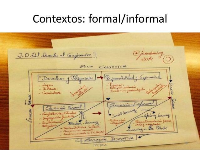 Contextos: formal/informal Universidad híbrida y transformación disruptiva 68