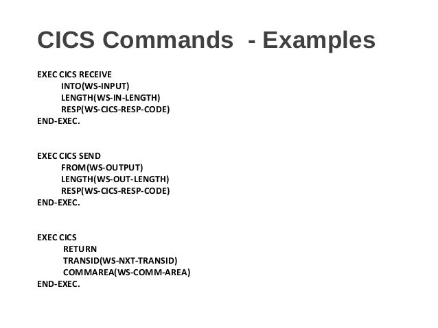 cics nominate command line options
