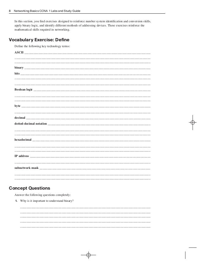cicso lab rh slideshare net Cisco CCNA Study Guide PDF ccna 1 chapter 8 study guide answers