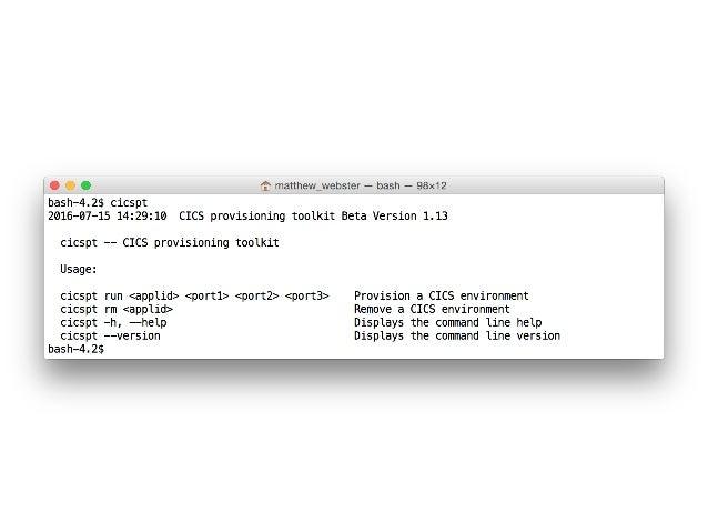 What  just  happened?   CICS   z/OS  Connect   Web  Service   API   Service   Code   cicspt run iyk2...