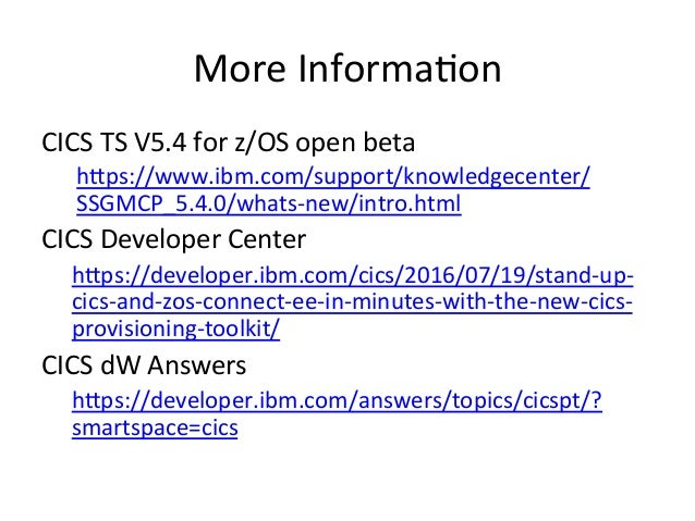 CICS provisioning toolkit