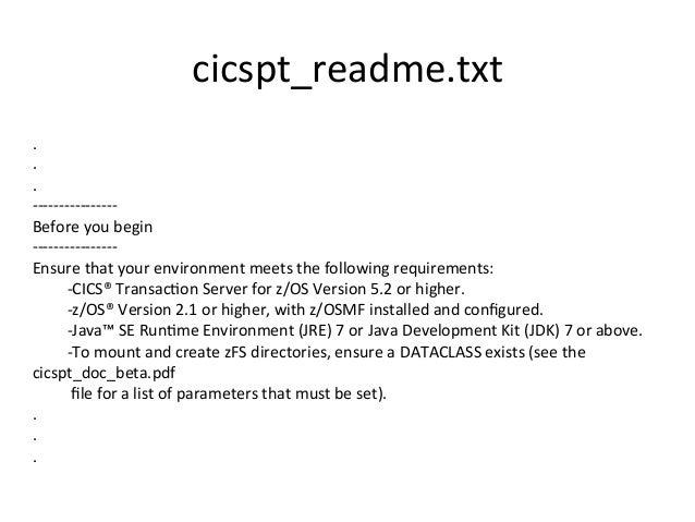 cicspt_readme.txt   .   .   .   -‐-‐-‐-‐-‐-‐-‐-‐-‐-‐-‐-‐-‐-‐-‐-‐   Before  you  begin   -...