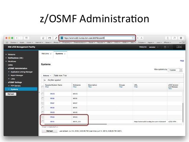 z/OSMF  Administra5on
