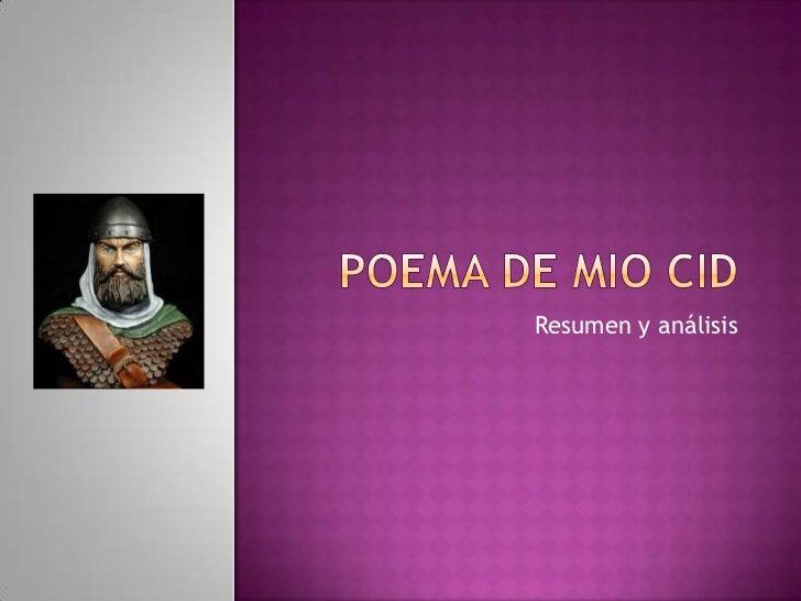 Poema de Mio Cid<br />Resumen y análisis<br />