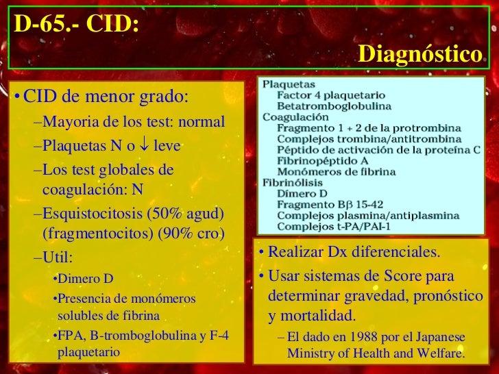 D-65.- CID:                                    Diagnóstico                  Aceleración              Especificidad        ...