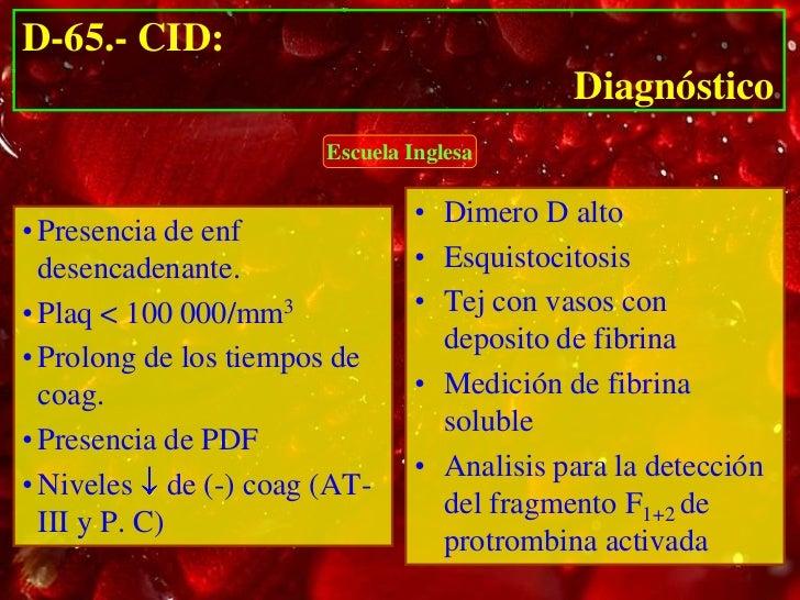 D-65.- CID:              Tratamiento