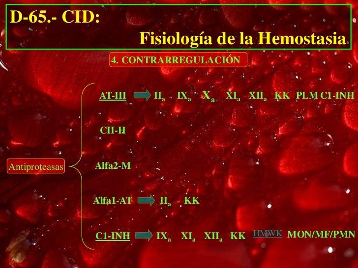 D-65.- CID:                           Fisiología de la Hemostasia                   4. CONTRARREGULACIÓN                 A...