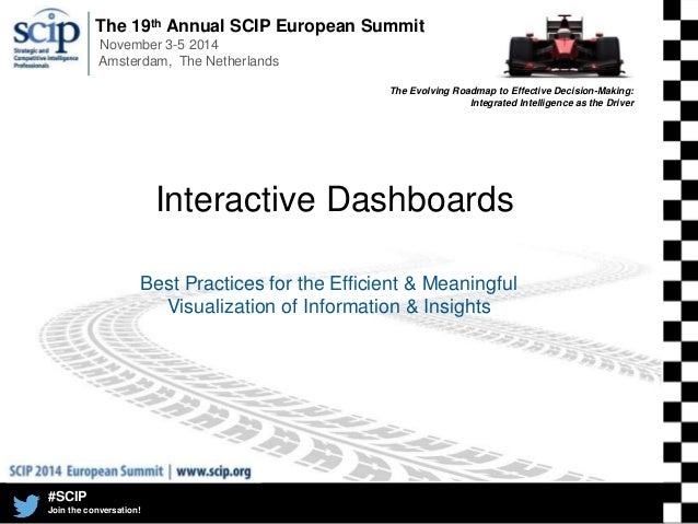 The 19th Annual SCIP European Summit November 3-5 2014 Amsterdam, The Netherlands #SCIP Join the conversation! The Evolvin...