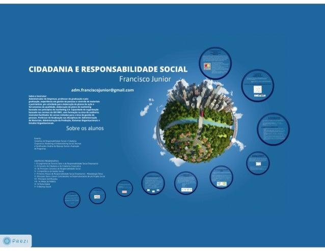 Cidadania e Responsabilidade Social