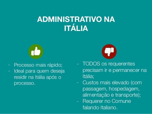 1. IDENTIFICAÇÃO DO DIREITO Praticamente todos os descendentes de italianos têm direito ao reconhecimento da cidadania mas...