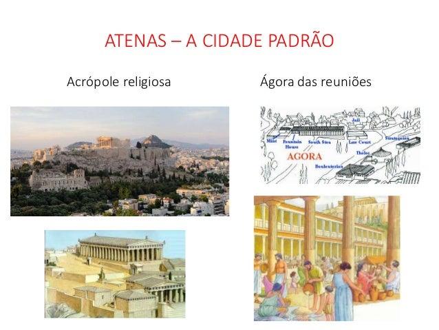 ATENAS – A CIDADE PADRÃO Acrópole religiosa Ágora das reuniões