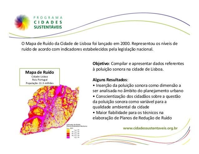 mapa de ruido lisboa Cidades sustentáveis mapa de ruido lisboa