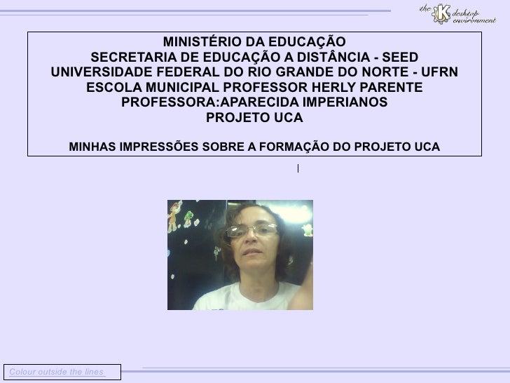 Colour outside the lines                         MINISTÉRIO DA EDUCAÇÃO        SECRETARIA DE EDUCA...