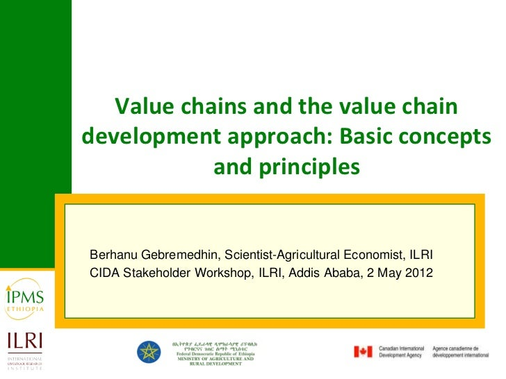 Value chains and the value chaindevelopment approach: Basic concepts            and principlesBerhanu Gebremedhin, Scienti...