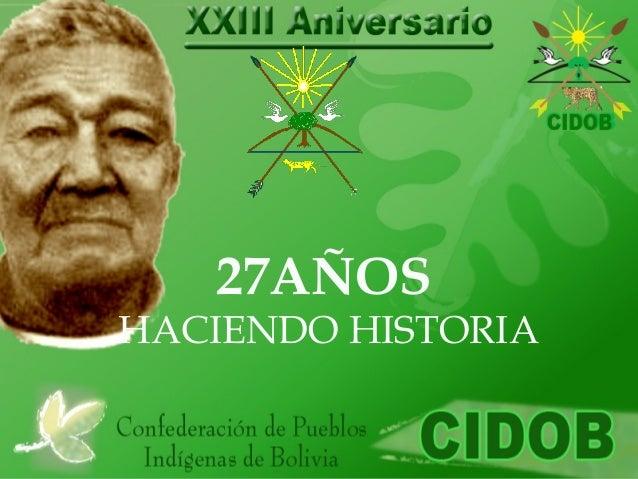 27AÑOS HACIENDO HISTORIA