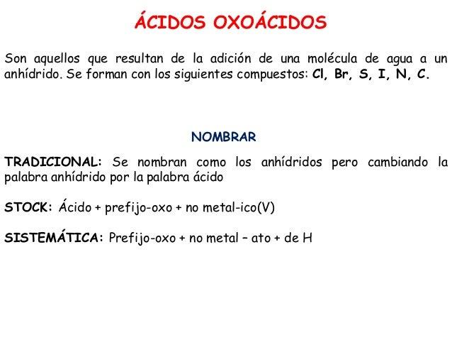 Formulación Y Nomenclatura De Los ácidos Ternarios