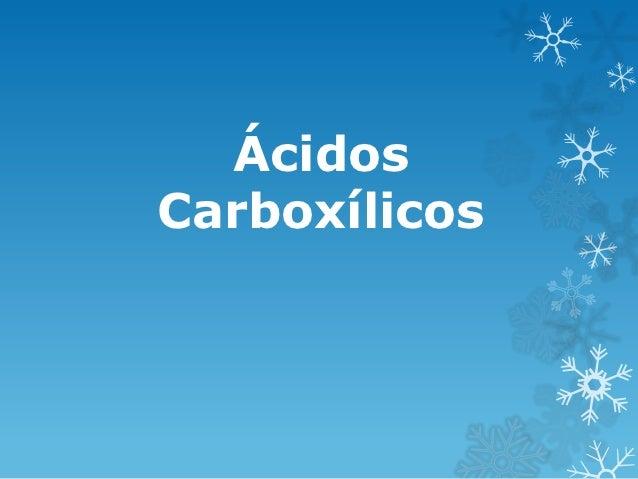 ÁcidosCarboxílicos