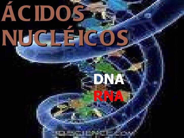ÁCIDOS NUCLÉICOS DNA RNA