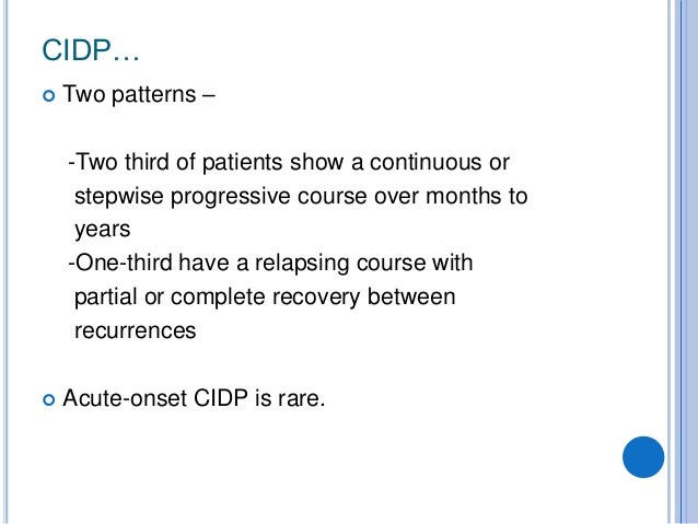 CIDP recent advances