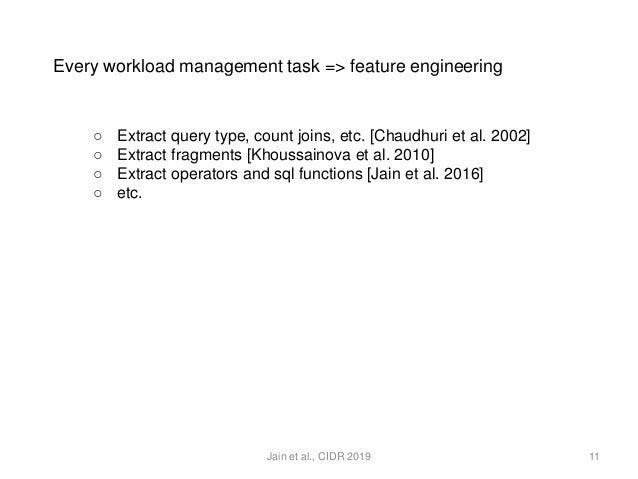 Database Agnostic Workload Management (CIDR 2019)