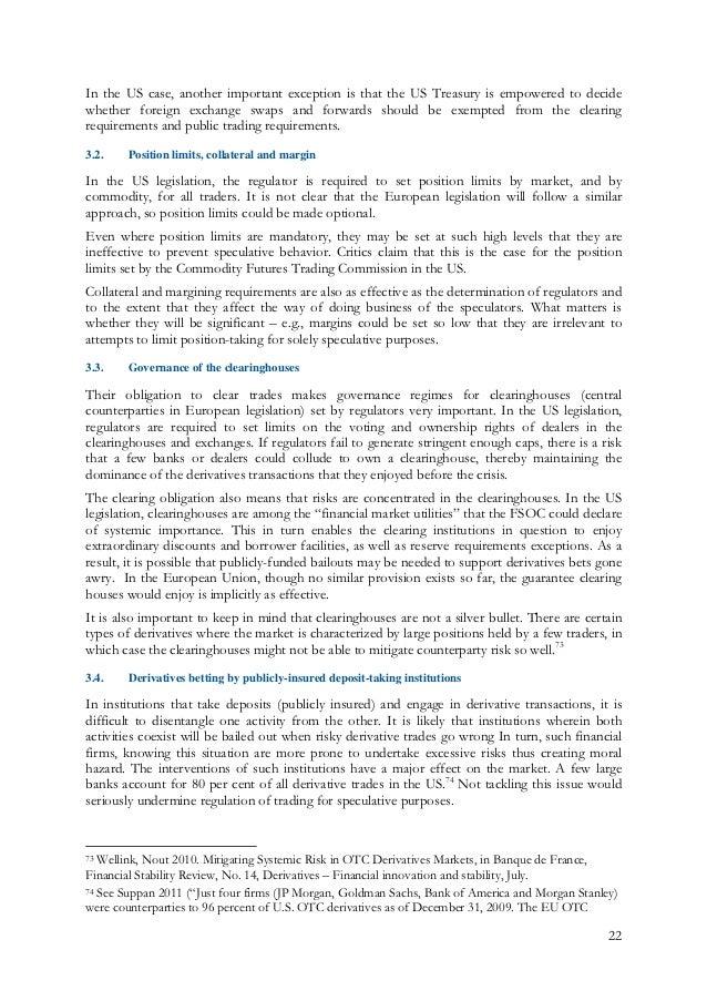 Financial regulation essay