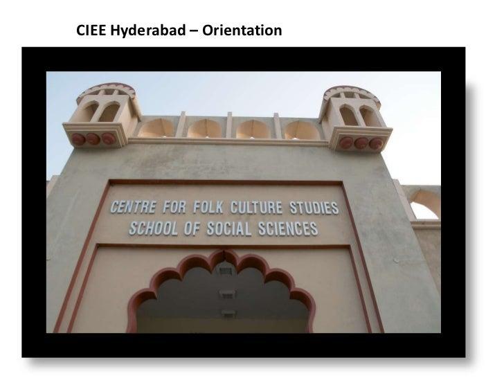 CIEE Hyderabad – Orientation<br />