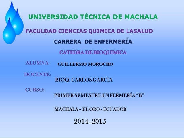 CATEDRA DE BIOQUIMICA GUILLERMO MOROCHO