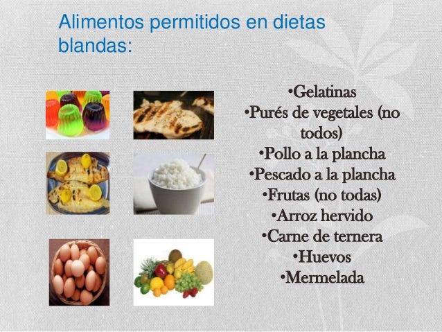 Calorias - Alimentos de una dieta blanda ...