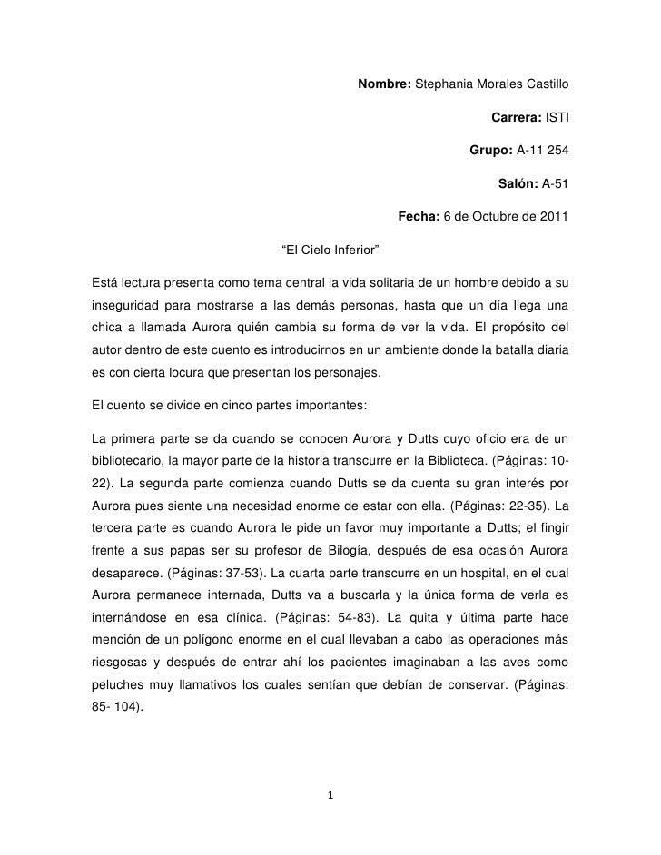 Nombre: Stephania Morales Castillo<br />Carrera: ISTI<br />Grupo: A-11 254<br />Salón: A-51<br />Fecha: 6 de Octubre de 20...