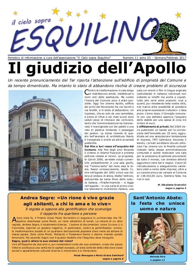 """Periodico di informazione a cura dell associazione """"Il Cielo sopra  Esquilino"""" Numero 11 ... 2da0382dc8b5"""