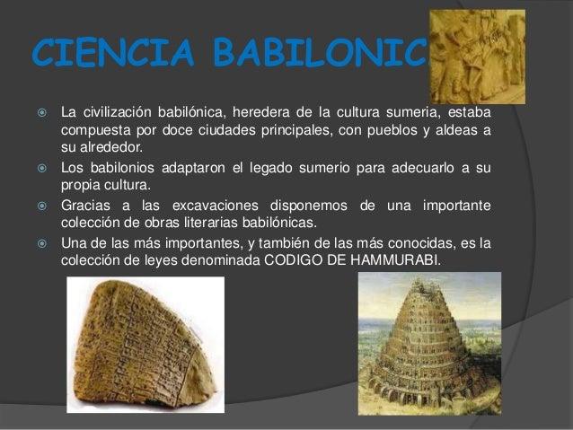 Ciencia babilonica Egi...
