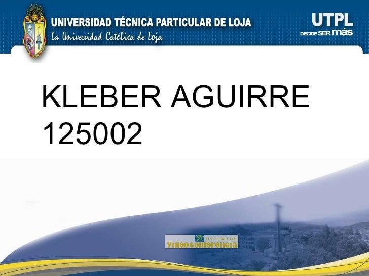KLEBER AGUIRRE 125002
