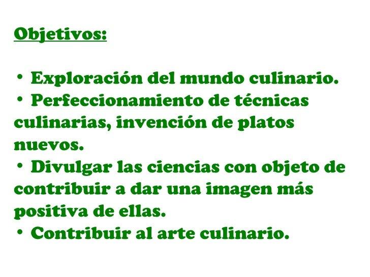 Ciencias desde los alimentos ii for Cocina molecular definicion