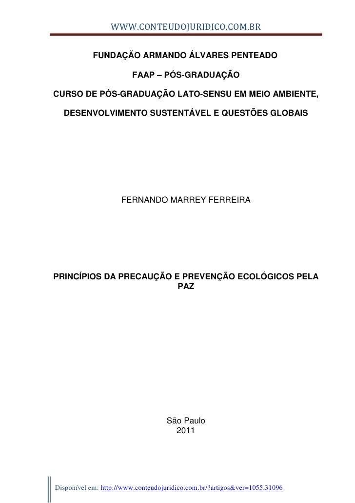 WWW.CONTEUDOJURIDICO.COM.BR            FUNDAÇÃO ARMANDO ÁLVARES PENTEADO                        FAAP – PÓS-GRADUAÇÃOCURSO ...
