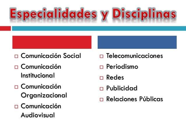 Resultado de imagen para especialidades de la comunicacion