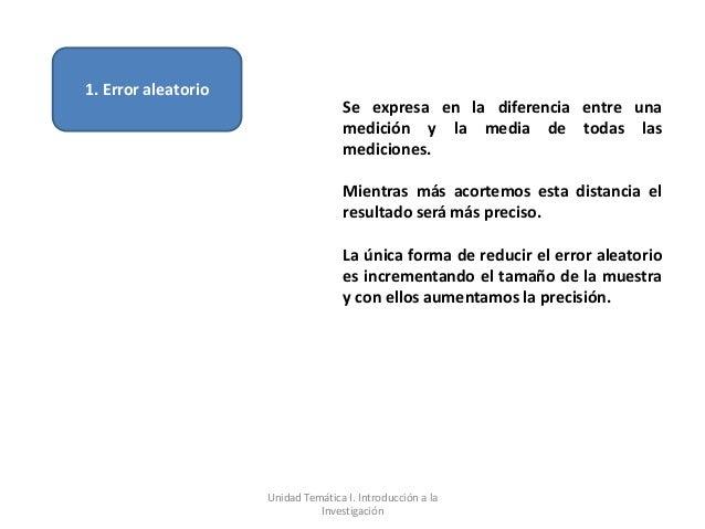 1. Error aleatorio                                    Se expresa en la diferencia entre una                               ...