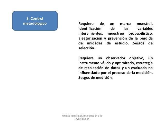 3. Controlmetodológico                 Requiere de un marco muestral,                             identificación    de    ...
