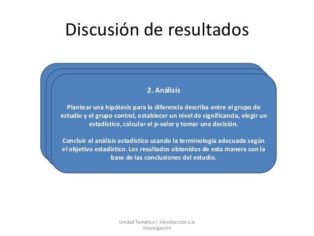 Discusión de resultados                                  2. Análisis  Plantear una hipótesis para la diferencia describa e...