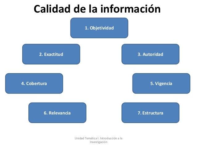 Calidad de la información                                 1. Objetividad        2. Exactitud                              ...