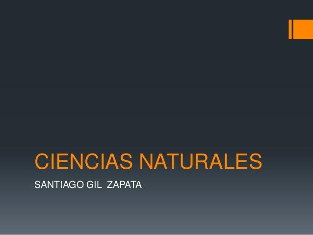 CIENCIAS NATURALESSANTIAGO GIL ZAPATA