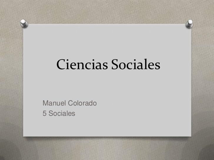 Ciencias SocialesManuel Colorado5 Sociales