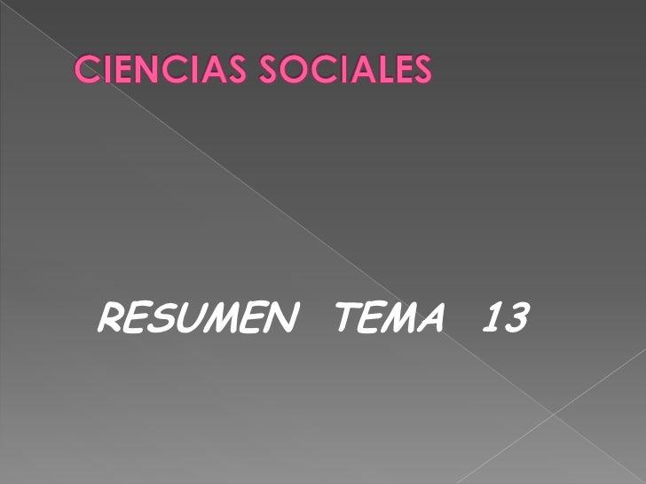 RESUMEN TEMA 13