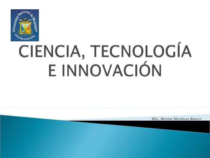 MSc. Werner Mendoza Blanco