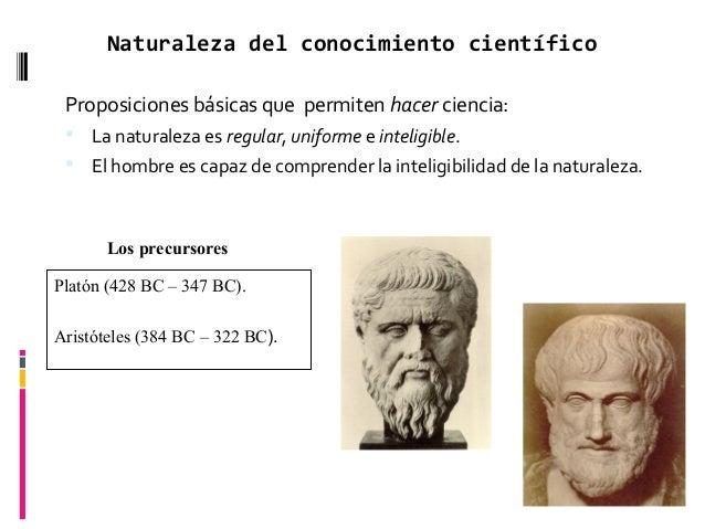 Naturaleza del conocimiento científico Proposiciones básicas que permiten hacer ciencia:  La naturaleza es regular, unifo...