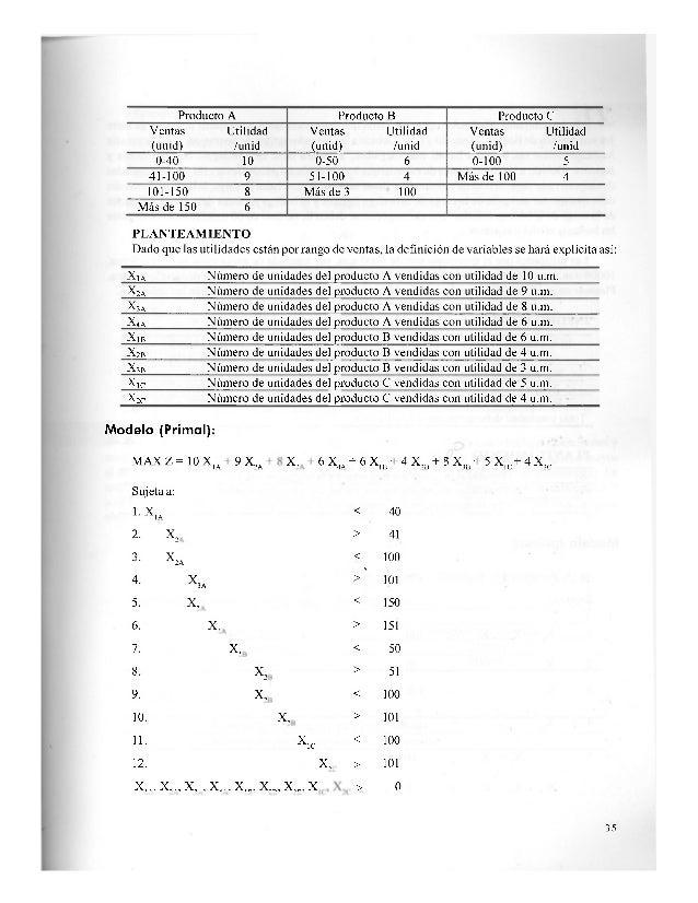 Resumiendo: MAX Z = 8000 X, + 10000 X, + 12000 X, Sujeta a: 1. X, + X, + X3 < 100 2. X, < 4 0 3. X, - 3X2 = 0 4. X, - | x ...