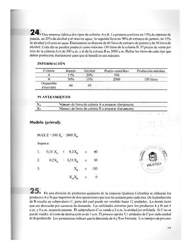 SOLUCIÓN X, Cantidad de producto A a producir X2 Cantidad de producto B a producir X3 Cantidad de subproducto C obtenido a...