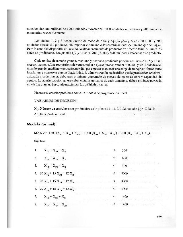 Cien problemas de programacion lineal parte 3