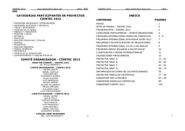 CIENTEC 2012_____        WWW.CIENTEC2012.JIMDO.COM__   ___________LIMA - PERÚ    CIENTEC 2012___         WWW.CIENTEC2012.J...
