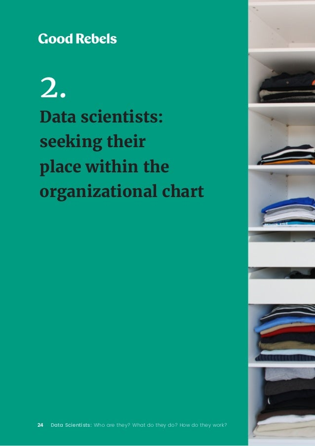 24 Data Scientists: Who are they? What do they do? How do they work? 2. Data scientists: seeking their place within the or...