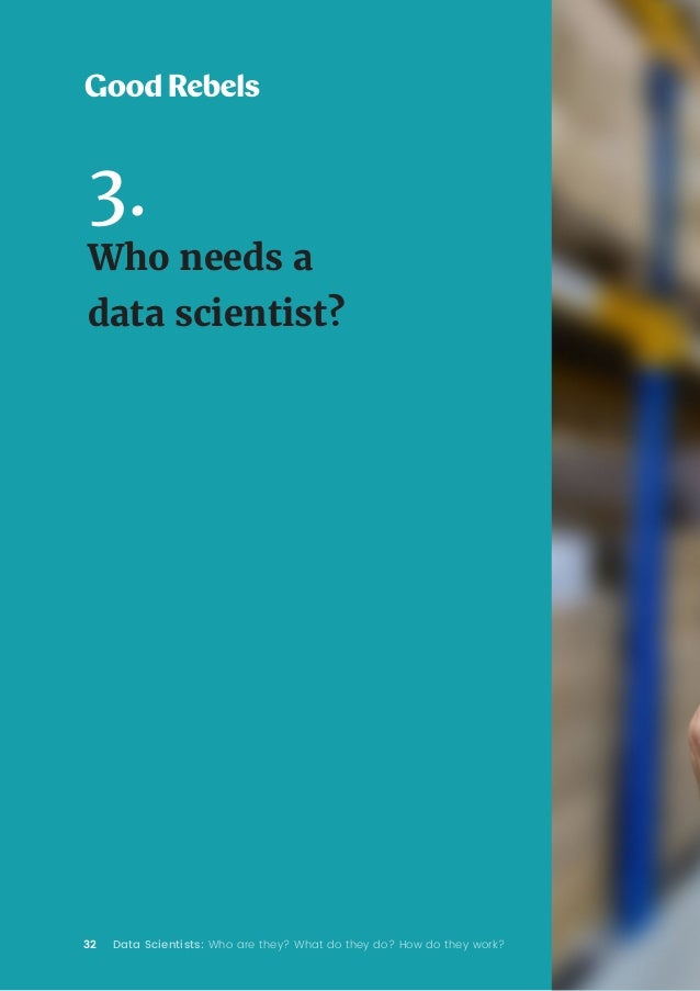 32 Data Scientists: Who are they? What do they do? How do they work? 3. Who needs a data scientist?